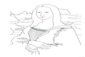 Mona Lisa Coloring Page Amazing Coloring Page And With Enchanted