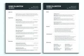 Best One Page Resume Template Modern Best Resume Template
