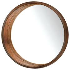 round wood mirror round wall mirror brown rustic wall mirrors wood and mirror wall decor hobby
