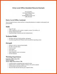 Technical Skills Resume Example Sample Resumes Receptionist The
