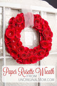 Paper Rosette Flower Diy Paper Rosette Wreath With Free Cut File Unoriginal Mom