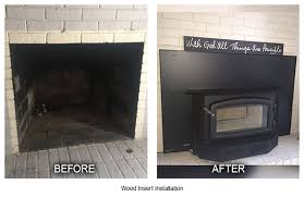 wood insert installation before after louisville ky