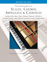Piano Scale Finger Chart Two Octave The Complete Book Of Scales Chords Arpeggios Cadences