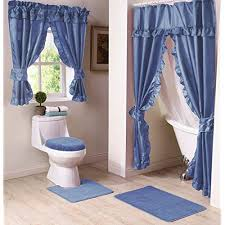 Curtains for picture window Sheer Curtains Madison Madswgwcbl Bathroom Window Curtain Blue Amazon Uk Bathroom Window Curtains Amazoncouk