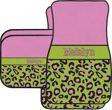 green car floor mats. Contemporary Car Pink U0026 Lime Green Leopard Car Floor Mats Set  2 Front Back  And