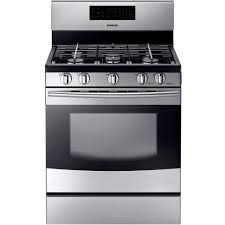 Oven Gas Stove Samsung 30 In 58 Cu Ft Gas Range With Self Cleaning Oven And 5