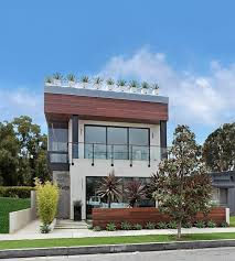 Contemporary house exterior design with roof terrace