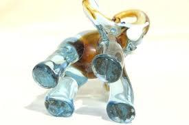 murano glass elephant vintage colored glass elephant figurine art glass murano glass elephant green