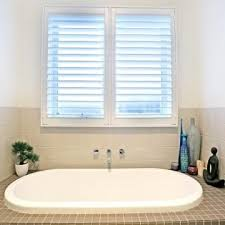 Bathroom With PVC Plantation Shutters