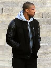 michael b jordan battle adonis creed black jacket