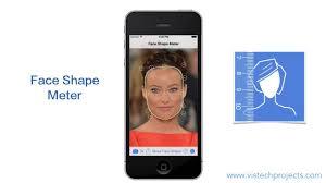 quick test of face shape meter app