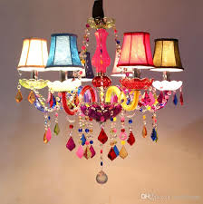 modern led crystal chandelier lighting bohemia colorful chandeliers res de cristal decorative lamps tiffany pendant lamp french chandelier plastic