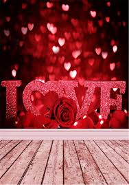 2018 sparkle love hearts red bokeh backdrops romantic roses valentines day wedding photography studio background wood floor from backdrop