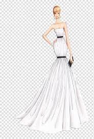 Model Dress Design Drawing Wedding Dress Drawing Illustration Sexy Dress Design