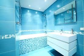 blue bathtub grey and blue bathroom royal decor dark painted wall floating cabinet sliding door white ceramic seat old blue bathtub decorating ideas