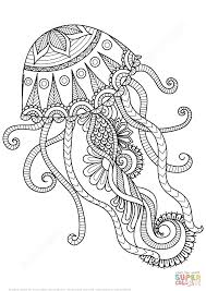 Small Picture Amazing Jellyfish Coloring Page 97 About Remodel Seasonal