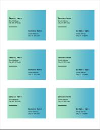 Shipping Labels Green Gradient Design 6 Per Page Works