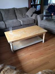 refinish coffee table with mint top