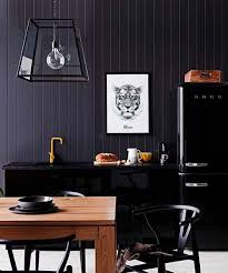 remarkable kitchen lighting ideas black refrigerator. black kitchen with yellow the minimalist x real living mag march 2013 remarkable lighting ideas refrigerator