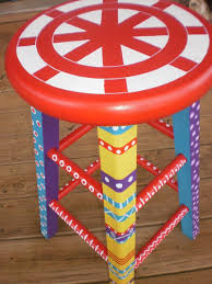 funky furniture ideas. whimsical furniture hand painted stool bright by folkartdreams funky ideas i