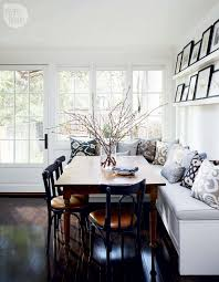 built in kitchen table bench new house tour charming and sophisticated victorian rowhouse
