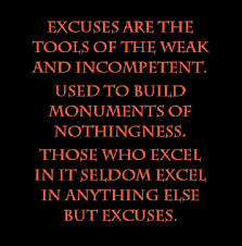 Excuses Quotes Cool 48 Beautiful Excuse Quotes And Sayings