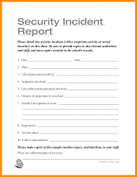 Images Of Campus Security Incident Report Template Free Downloads