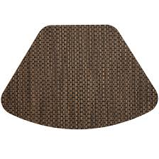 Round Table S Wedge Placemats Driftwood Black And Tan Wipeable Wedge Shaped