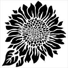Sunflower Stencil Designs Joyfull Sunflower 12x12 Stencil By Carmen Medlin Sunflower