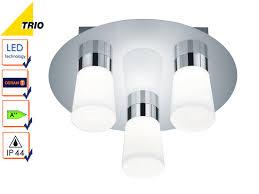 Dimmbares Led Deckenlampenset Badezimmerleuchten ø 30cm Chrom Acryl