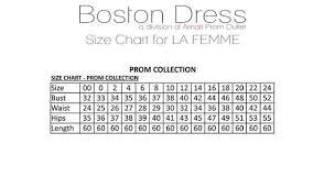La Femme Prom Dresses Size Chart La Femme Style 26768