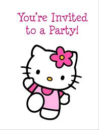 invitation card hello kitty birthday party invitation cards free download hello kitty printable