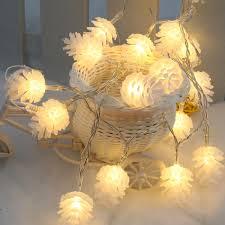 Mini White Light Strings Lixada 2 2m 20 Led Warm White Pinecone Lamp Fairy String