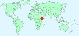 Image result for ethiopia world map
