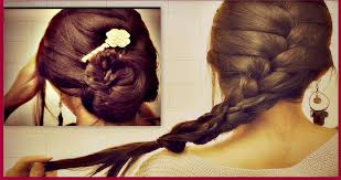 French Braid Updo Hairstyles How To French Braid Your Own Hair Tutorial Romantic Updo Bun