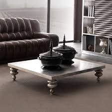 Designer Silver Leaf Low Coffee Table Juliettes Interiors