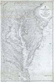 Upper Chesapeake Bay Chart 1871 Admiralty Nautical Chart Of The Chesapeake Bay