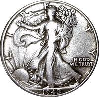 1935 Silver Half Dollar Value Chart 1942 Walking Liberty Half Dollar Value Cointrackers