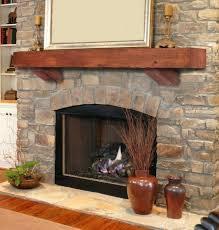 wood fireplace mantle shelves cool herringbone tile