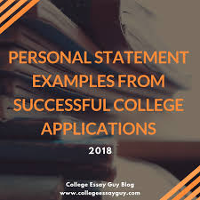 Personal Statement Examples For College Applications 2018
