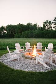 adirondack chairs around fire pit. Beautiful Around Iu0027m Totally Swooning Over This Stunning Outdoor Fire Pit Area Via Brooklyn  Limestone U2013 Itu0027s Got To Be All That Pole Lighting But I Also Love The Seating  On Adirondack Chairs Around Fire Pit I
