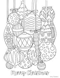 And Coloring Pages Christmas Ornaments Printable Coloring Pages