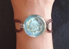hand n gl jewelry gl bracelet on leather