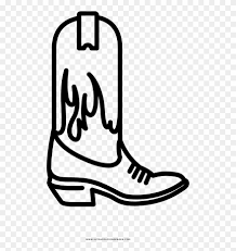 Cowboy Boot Coloring Page Clipart 3082259 Pinclipart