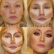 contouring is the way to make your face look flawless also using an airbrush instead of liquid foundation is good use brown contouring liner or eye liner