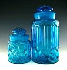blue glass canister set colored glass canisters blue glass canister set remarkable vintage glass canisters for