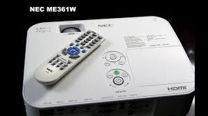 <b>NEC</b> NP-<b>ME361W</b> 3600-Lumen WXGA LCD Projector - YouTube