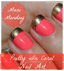 Lush Fab Glam Blogazine: Mani Monday: Style Me Pretty In Coral ...
