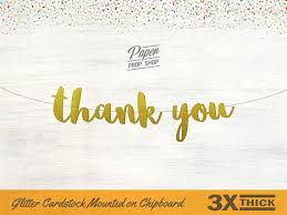 Thank You Cursive Font Thank You Banner Script Font Wedding Banner Wedding Sign