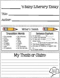 baby literary essay graphic organizer by the crafty apple tpt baby literary essay graphic organizer